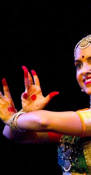"Sharmila Rao in ""Vrindavanadol Aduvanyare"", Purandara Dasa Pada, photo by J. Oehy"